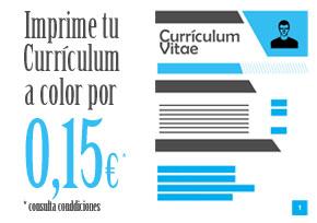Imprime tu currículum con la foto en color por sólo 0,15€ c.u. Fotocopias ADOS Valencia
